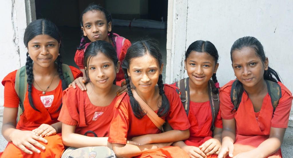 girls in orange