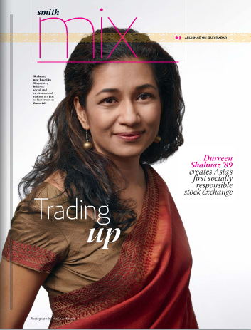 Cover Photo for Smith College's feature on Durreen Shahnaz